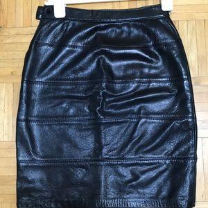 Vintage Leather ( real) skirt